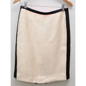 J.Crew contrast pencil skirt Women's Size 4 NWT